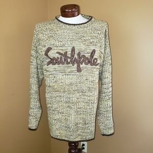 Vintage Southpole XL tan/brown oversized sweater